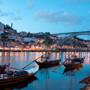 Rabelo boats in Porto, Portugal