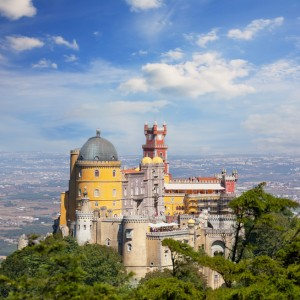 view of Palace da Pena. Sintra, Lisbon. Portugal